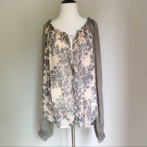 Free People Floral Hendrix Blouse